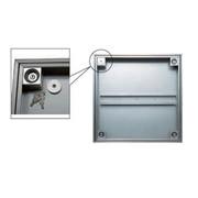 ダイケン FSMPD45KH アンダーハッチ 45cm 枠、蓋ステン 防水・防臭タイプ 下部止水式 モルタル専用 錠付 ハンドル付