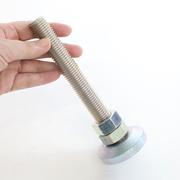 アジャスターボルト M20 軸長150 重量物用 鉄ユニクロメッキ コノエ