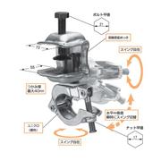足場 コ型クランプ スイング自在型 垂直水平ワンタッチ切替の自在型 【20個入】