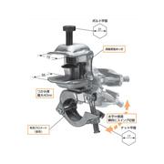 足場 コ型クランプ スイング固定型 垂直水平ワンタッチ切替の固定型 【20個入】