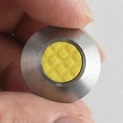 点字鋲 丸 25個組 ステンレス ノンスリップ樹脂 イエロー JIS300角セット